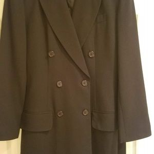 Oleg Cassini Womens Black 3/4 Coat Suit, Size 8